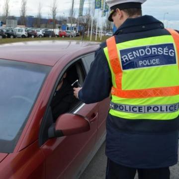 Fokozott ellenőrzést tartanak a rendőrök térségünkben