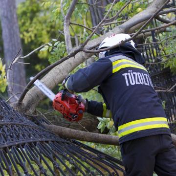 Fákat döntött ki és házakat rongált meg a viharos szél