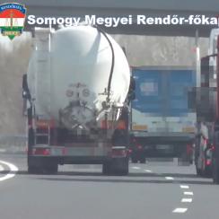 Ellenőrzés az M7-es autópálya somogyi szakaszán