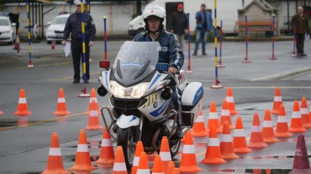 Közlekedési rendőrök megyei döntőjét tartották