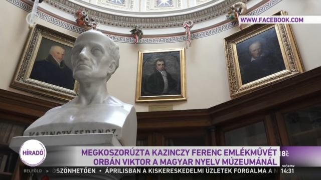 Orbán Viktor meglátogatta A Magyar Nyelv Múzeumát Széphalmon