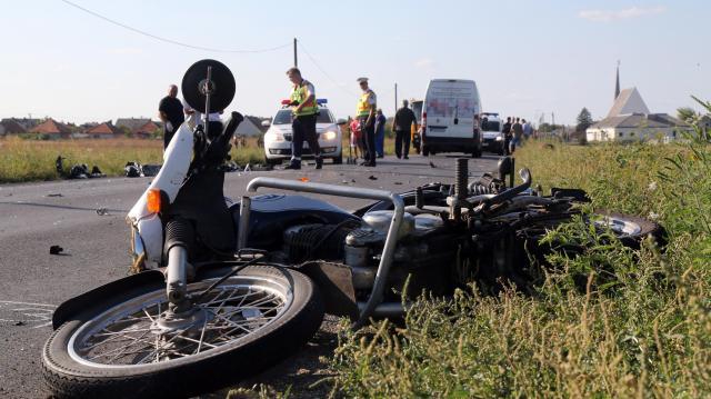 Balesetben meghalt egy motoros a térségben