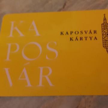 Ideje érvényesíteni a Kaposvár Kártyát