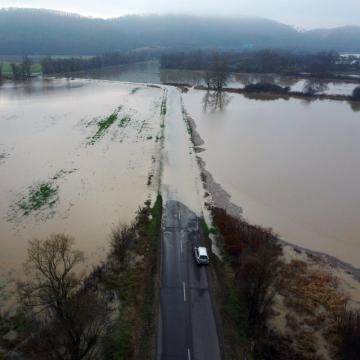 Nincs már árvíz miatt lezárt út Borsodban
