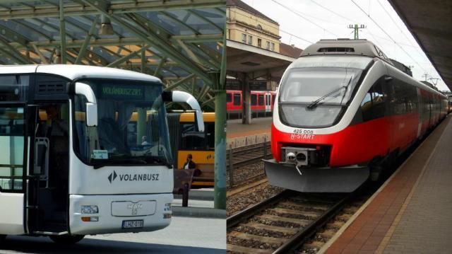 Változik a vonatok és a Volán-járatok közlekedési rendje