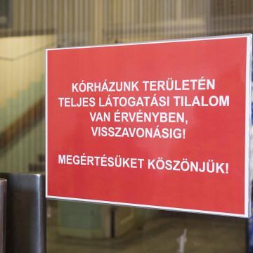 Látogatási tilalmat rendeltek el több Jász-Nagykun-Szolnok megyei kórházban