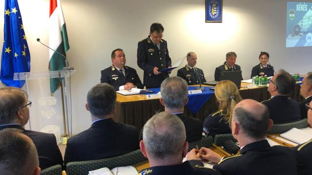 Évértékelő értekezlet a megyei rendőrfőkapitányságon