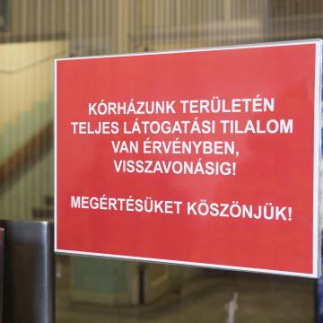 Látogatási tilalmat rendeltek el a veszprémi Csolnoky Ferenc Kórházban szombattól