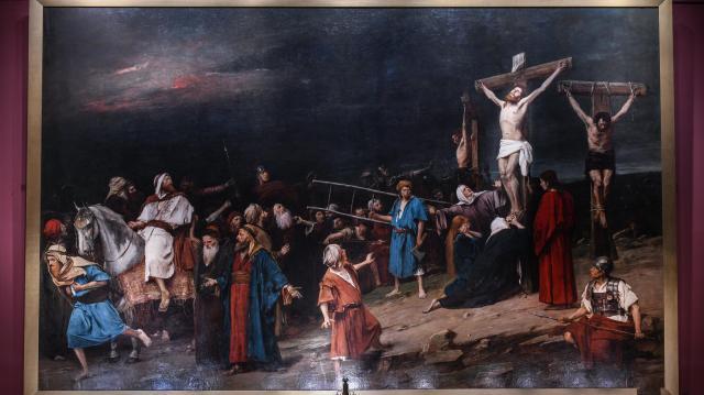 Jogilag is a Déri Múzeum kezelésébe került Munkácsy Golgota című festménye