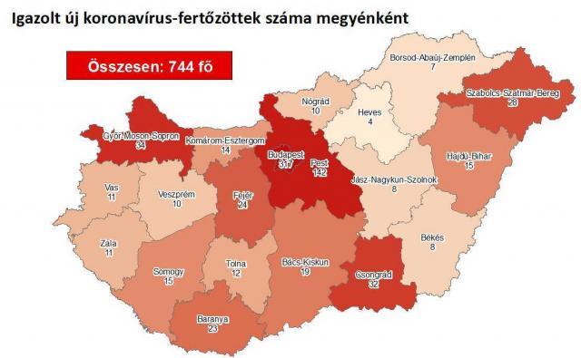 Így változott a fertőzöttek száma Sopron megyében hétfőre