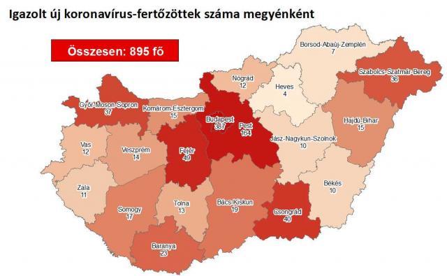 Így változott a fertőzöttek száma Borsod-Abaúj Zemplén megyében szerdára
