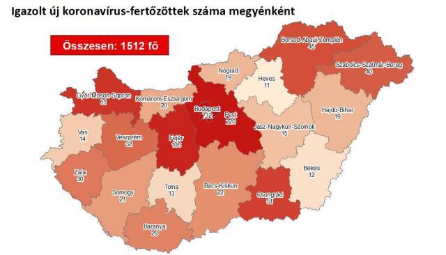 Így változott a fertőzöttek száma Pest megyében keddre