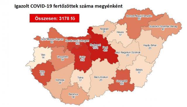 Így változott a fertőzöttek száma a megyében péntekre