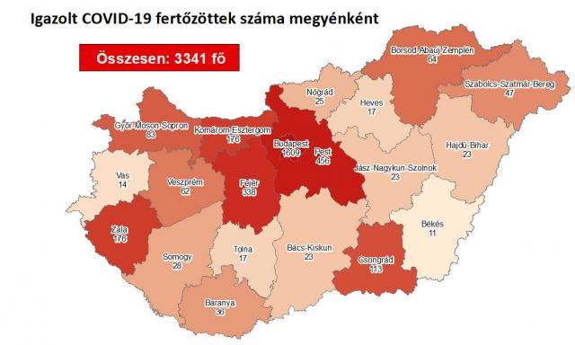Így változott a fertőzöttek száma a megyében szerdára