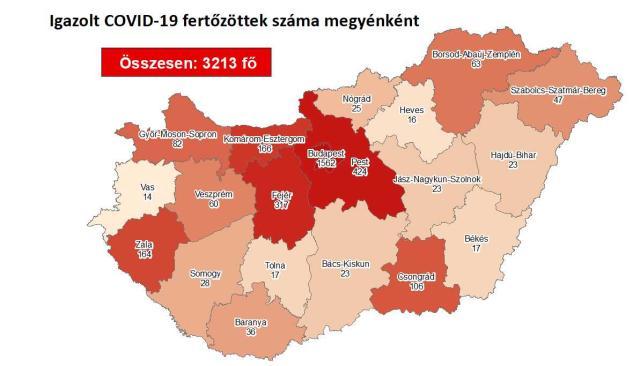 Így változott a fertőzöttek száma a megyében szombatra