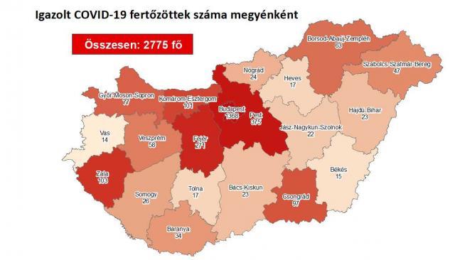 Így változott a fertőzöttek száma Fejér megyében csütörtökre