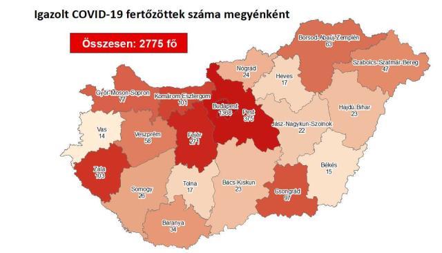 Így változott a fertőzöttek száma Komárom-Esztergom megyében csütörtökre