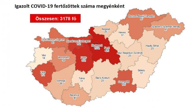 Így változott a fertőzöttek száma Pest megyében péntekre