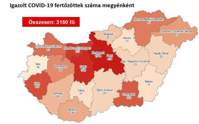 Így változott a fertőzöttek száma Zala megyében csütörtökre