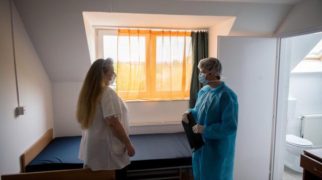 Járványügyi ellenőrzés az Új Remény Idősek Otthonában