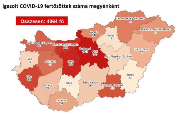 1029-re csökkent az aktív fertőzöttek száma