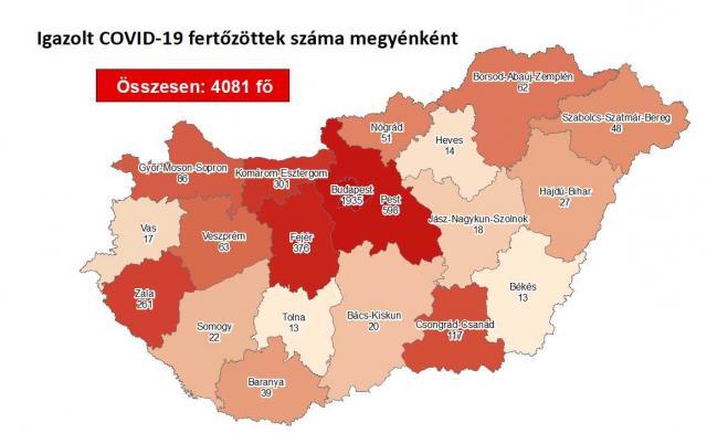 932-re csökkent az aktív fertőzöttek száma