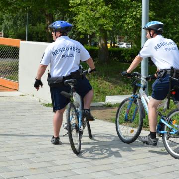 Biciklis járőrök a nyári szezonban