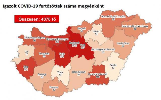 Egy fővel nőtt a fertőzöttek száma az országban
