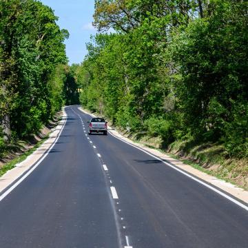 Felújították a 84-es út Nemeskér és Újkér közötti szakaszát