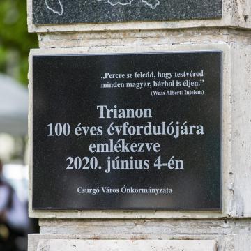 Országszerte megemlékezéseket tartanak Trianon évfordulóján
