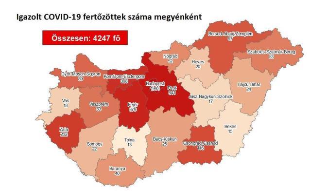 13-mal nőtt a beazonosított fertőzöttek száma Magyarországon