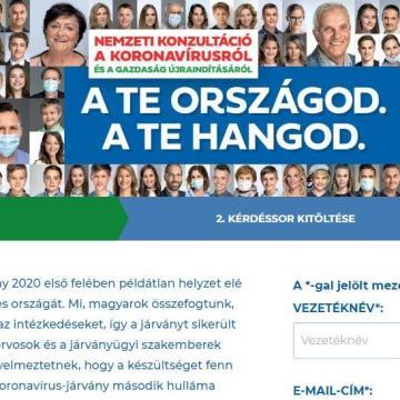 Már online is kitölthető a nemzeti konzultáció!