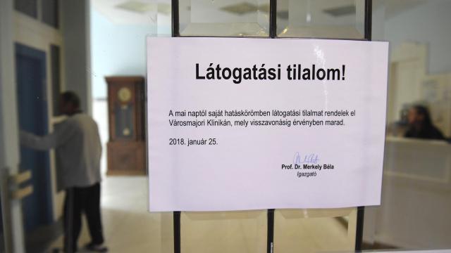 Látogatási tilalom több Jász-Nagykun-Szolnok megyei kórházban