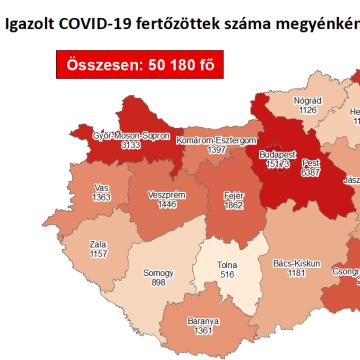 Ismét 1400 fölött az új fertőzöttek száma Magyarországon