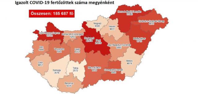 Továbbra is Budapesten van a legtöbb fertőzött
